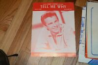 """""""BOBBY VINTON-TELL ME WHY"""" PIANO/VOCAL/GUITAR SHEET MUSIC-NEW ON SALE-RARE-1951!"""