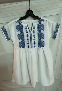 Crewcuts White Embroidered Dress Sz 10