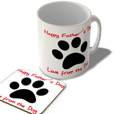 Happy Father's Day Love from the Dog - Mug and Coaster Set