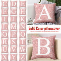 45x45cm A-Z Letters Cushion Throw Pillow Case Cover Home Sofa Bed Decor New LO