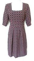 Fever Woman's Black/Red/White Pocket Dress with tie belt - size 8 uk - 36 eu