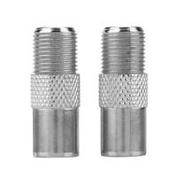 2pcs Zinc Alloy F Female to F Male Connector 9.5TV Antenna Coaxial Plug Adapter
