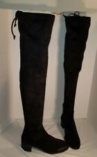 NEW FREE PEOPLE WOMEN'S BLACK COAST TO COAST OVER THE KNEE BOOTS US 7 EUR 37