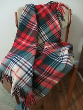 Carldyke St. Moritz Plaid Wool Sofa Bed Throw Afghan Camp Stadium Baby Blanket