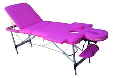 TABLE DE MASSAGE N3S PLIANTE PORTABLE EN ALUMINIUM 3 PLANS ZONES kiné tattoo