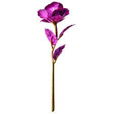 24K Gold Dipped Rose Long Stem Flower Valentine's Day Wedding Lovers Gift+Box sT