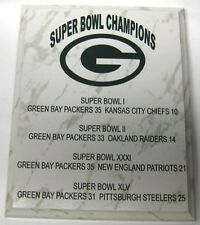 GREEN BAY PACKERS SUPER BOWL CHAMPIONSHIP PLAQUE
