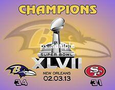 Baltimore Ravens - 2013 SUPERBOWL CHAMPS - FLEXIBLE FRIDGE MAGNET