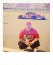CAR RACING GUY Vintage POLAROID Found Photo FREE SHIPPING Original COLOR 97 18