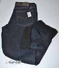 Jeans uomo termico 46 a 62 foderato in pile caldo strech blu SEA BARRIER Polar