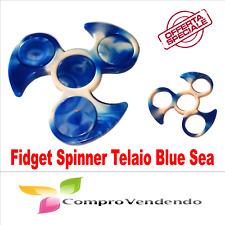 FIDGET SPINNER MANO Gioco STRESS Rilassante Telaio Blue Sea