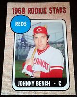 JOHNNY BENCH 2006 Topps Rookie Card RC Lot of 5 1968 Reprint 2 WS Rings MVP HOF