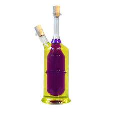 Essig und Öl Flasche mit Korken 2 in 1 Glas Flaschen Menage Essig & Öl
