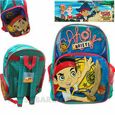 Jake & the Never Land Pirates Backpack Kids Boys Disney School Book Library Bag