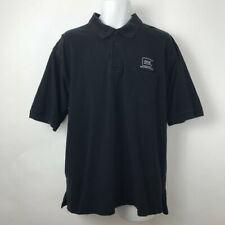 Glock Shooting Sports Perfection Mens Polo Shirt Black Short Sleeves Cotton XL