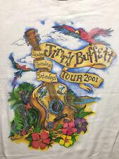 Jimmy Buffett 2001 Tour Parrotheads Vintage White T Shirt Sz.XL