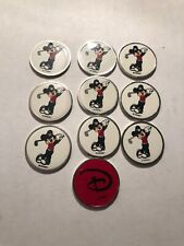 10 Disney golf ball markers 2 Sided. Mickey Mouse.
