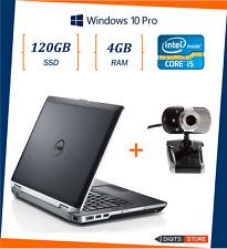 """pc portatile notebook usato ricondizionato 14"""" 8GB SSD 120GB Dell E6430 i5"""