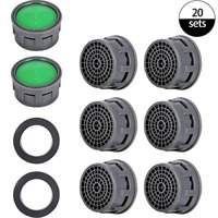 20 Sets Faucet Aerator with Gasket 2.2 GPM Sink Aerator Faucet Replacement Parts