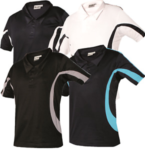 New Mens Polo Shirts Breathable T-Shirts Short Sleeve Pique Tee Gym Tops Wicking