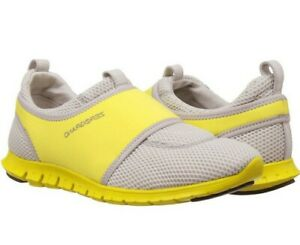 Cole Haan Women's ZeroGrand Slip On Sneakers Shoes Grey / Yellow Size 9