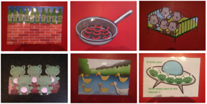 NURSERY RHYME POSTER/ PROPS childminding/nursery/ early years resources
