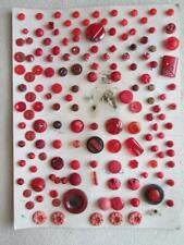New ListingCard of Vintage Red Diminutive Buttons Glass Celluloid Other Approximately 149
