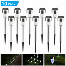 10x Outdoor Yard Solar LED Pathway Garden Lights Walkway Landscape Path Lamp