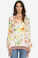 Johnny Was Fiska Flare Sleeve Floral Print Women's Blouse Top New Boho C10918