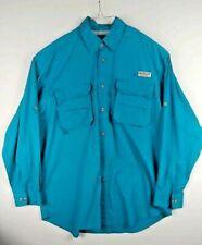 Magellan Sportswear top Men Long Sleeve Vented Fishing Shirt pocket zippered XL