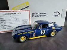 Danbury Mint 1966 Chevy Corvette Roger Penske Sunoco Race Car 1:24 Scale Diecast