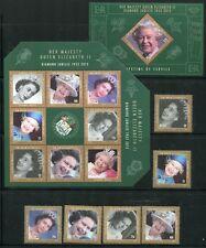 Belize 2012 la reine Elisabeth Trône Jubilé QE II Royalty complet. Cachet Neuf sans charnière