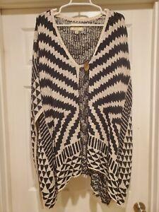 LUCKY Brand Poncho Lightweight Sweater 2X