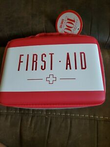 RED and  White STIFF SHELL TRAVEL BAG for FIRST AID, HOME OFFICE  CASE ONLY