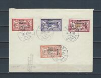 Middle East Syria 1925 airmail stamp set on cover SG 171-74