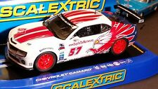 SCALEXTRIC Slot Car 1:32 Chevy CAMARO Digital Plug Ready NEW Lights White