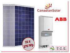 Kit fotovoltaico 4 kW 16 moduli CANADIAN SOLAR 270 Wp + inverter ABB PVI 3.6