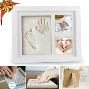 Baby Hand Foot Print Frame Set Soft Imprint Clay for Moulding  Premium Gift