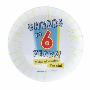 Cheers to 6 Years Kids 6th Birthday Party Favor Gift Tray Melamine Snack Plate