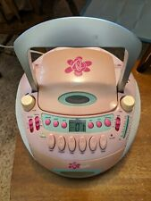Barbie AM FM Radio CD Cassette Tape Player Electrical Battery Operated 2003