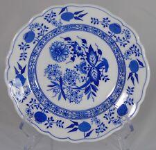 Hutschenreuther - Assiette à dessert en porcelaine allemande, décor à l'oignon