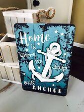 Nautical Sign - Beach Decor - Anchor Saying - Home Decor - Nautical Gift