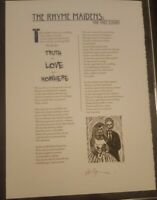 Neil Gaiman THE RHYME MAIDENS First edition Broadside 1/250 copies SIGNED Poems