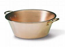 Matfer Cobre Pesado Jam Pan, cobre sólido Con Dos Manijas De Bronce, 8,5 Cuartos