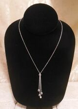 14k Italy SAPPHIRE Ruby EMERALD Diamond LARIAT Necklace A Great Gift Idea!