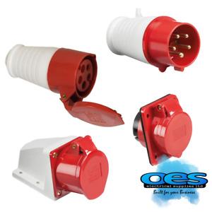 Gewiss 16A 400V Red 3 Phase 4 Pin Industrial Trailing Commando Plug 415V
