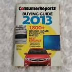 Consumer Reports Annual 2013 Buyers Guide Cars Appliances Electronics Research photo