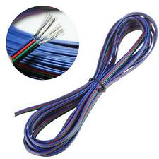 5M 4 Pin Extension Wire Connector Cable Cord Union De Tira luz RGB SMD 5050 3528