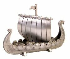 Norway Pewter Viking Ship with Sail, New
