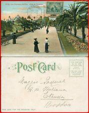 Nice les noveaux jardin  postcard 1907